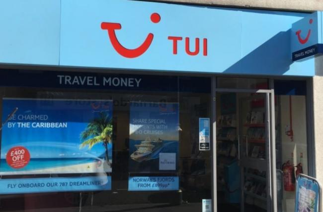 TUI's store in Stourbridge High Street. Pic - Google