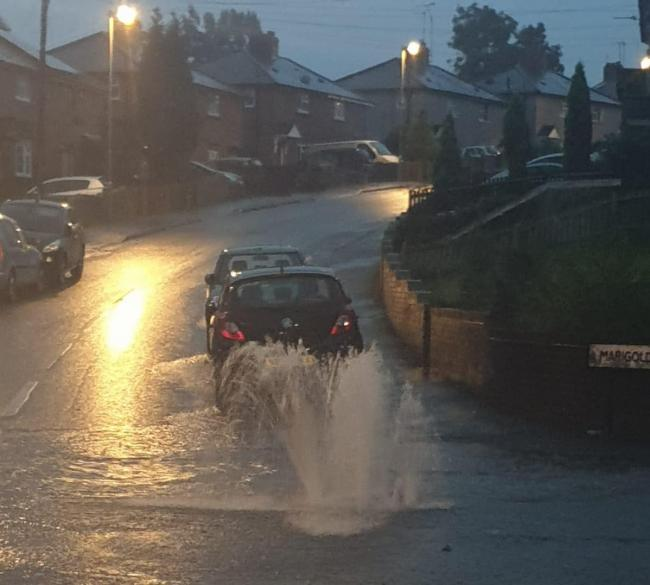 Flooding on Summer Road in Dudley.