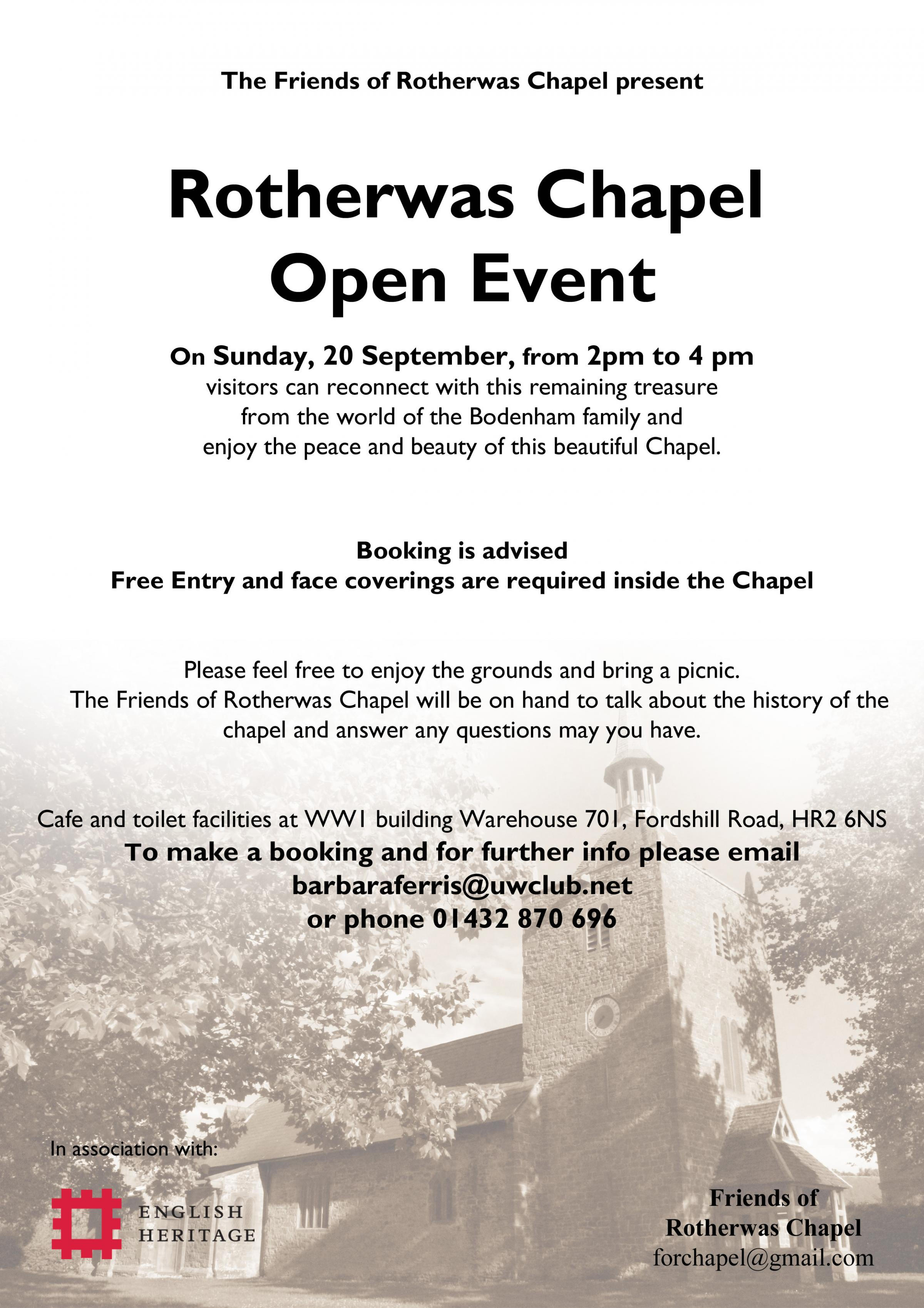 Rotherwas Chapel Heritage Open Event