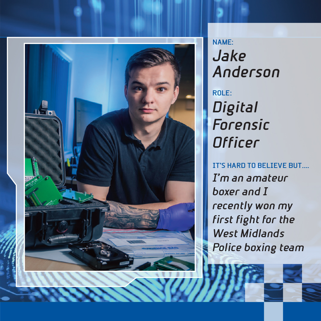 Jake Anderson - digital forensic officer and star of Forensics: The Real CSI. Pic - West Midlands Police