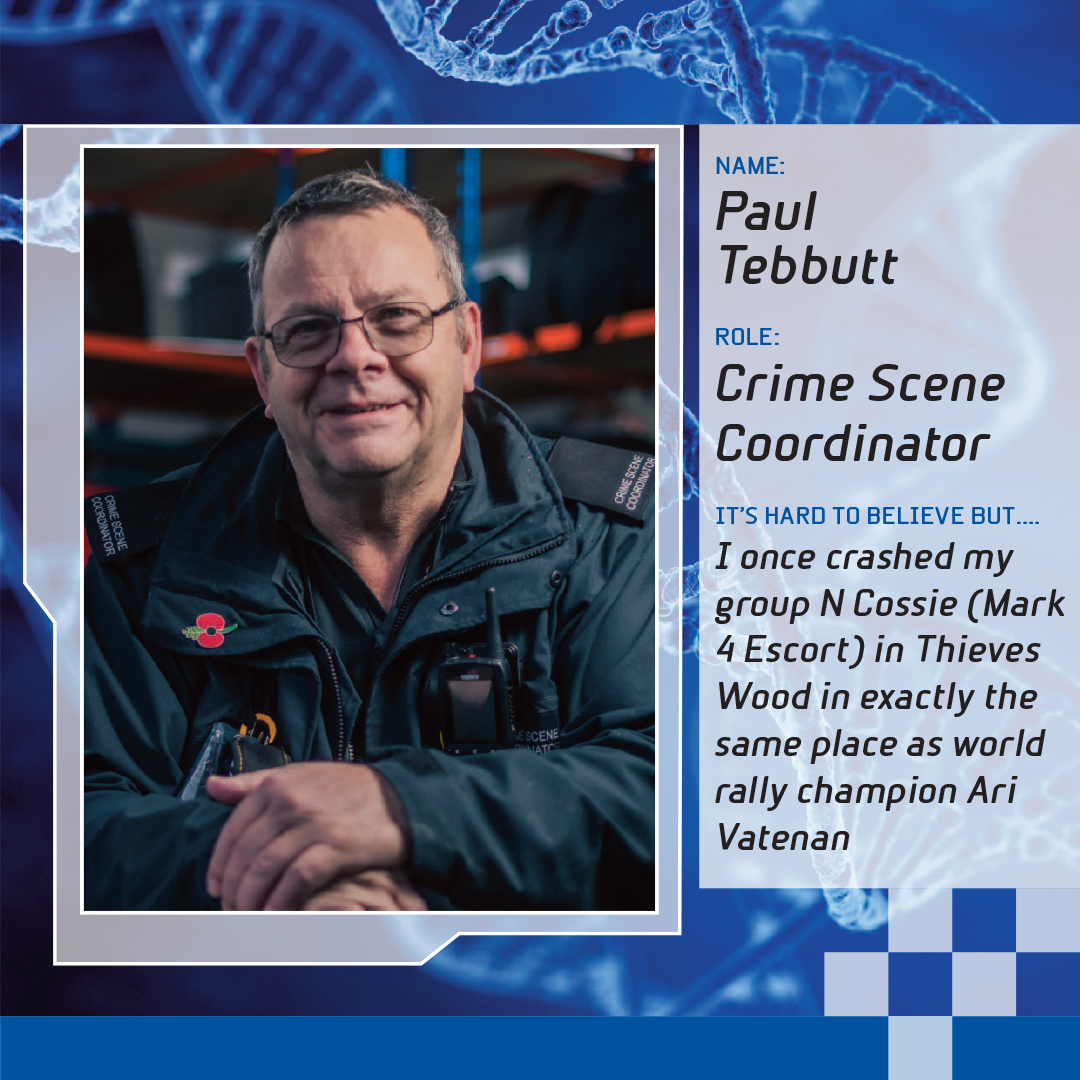 Crime scene coordinator Paul Tebbutt who appears in BBC Two show Forensics: The Real CSI