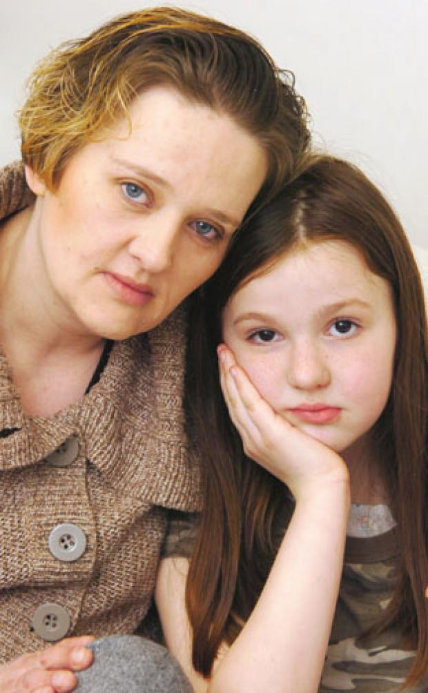 Halesowen News: Party ruined: Paula Manning with her daughter, Katie, 8.
