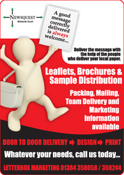 Halesowen News: leaflet distibution promotion