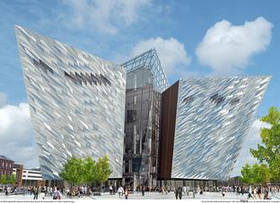 An artist's impression of the new Titanic Belfast