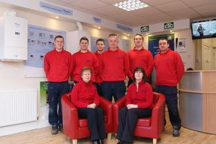 Friendly: Staff from M.T Plumbing and Heating.
