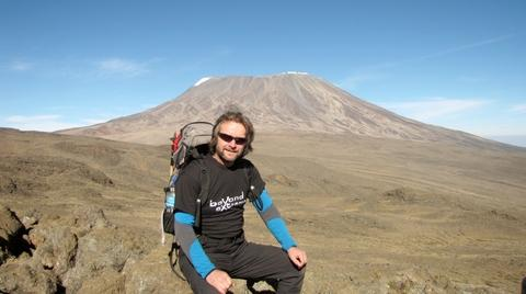 Adventurer Kevin Bigland who will fly from the summit of Kilimanjaro for charity.