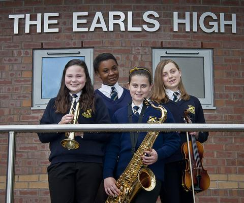Earls students (from left) Jade Round, Haile Van Zyl, Nadia Talo and Jenny Stinchcombe.