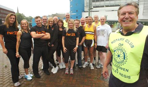 Rotarian Alan Bowler and volunteers ready for Halesowen's first fun run in September