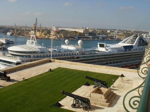 The Grand Princess at Valletta in Malta