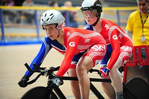 Helen Scott (left) and Aileen McGlynn are going for glory