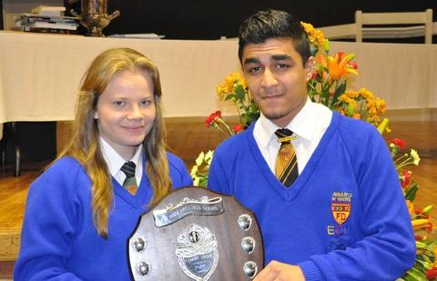Students of the Year Chloe Best and Ahmed Naseri.