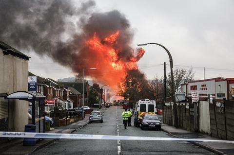 The Oldbury fire on Monday