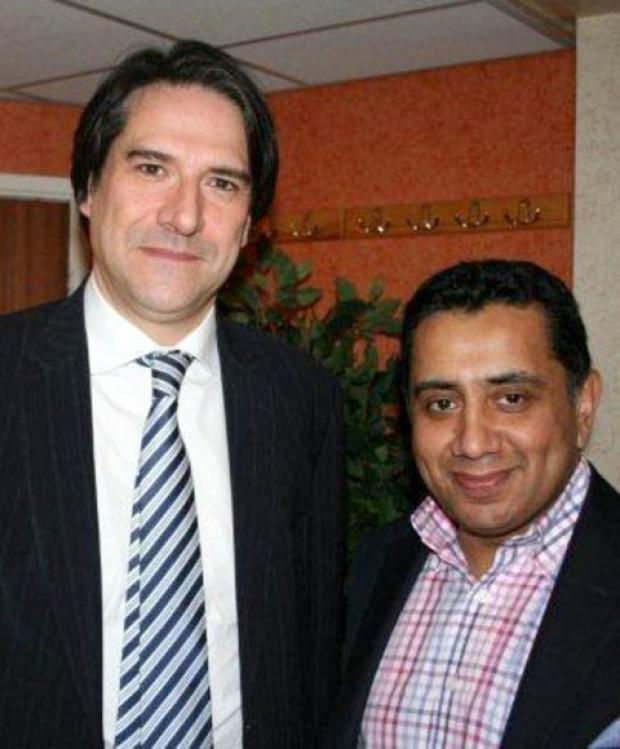 Halesowen News: Halesowen and Rowley Regis MP James Morris with Lord Tariq Ahmad at Lapal House.