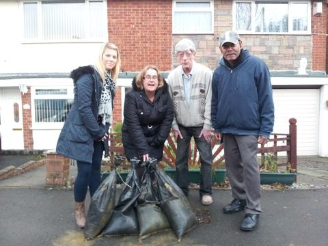 Halesowen News: Hilston Avenue residents Heather Haycock, Councillor Donella Russell, David Connop and Keith Morrison.
