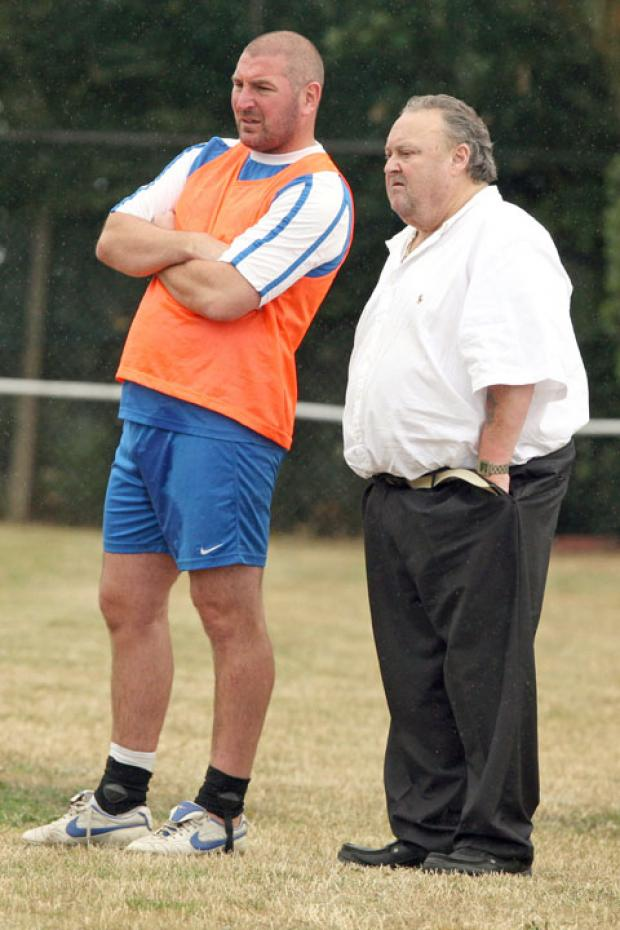 Duane Darby (left) during his time as assistant to Steve Daniels