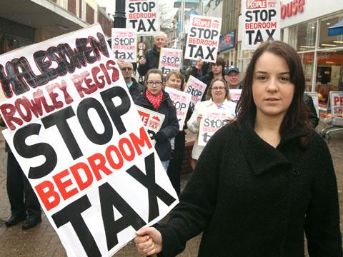Potential Labour candidate Stephanie Peacock protesting in Halesowen