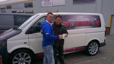 Dave Tedstone with Wheeler Dealers presenter Mick Brewer.