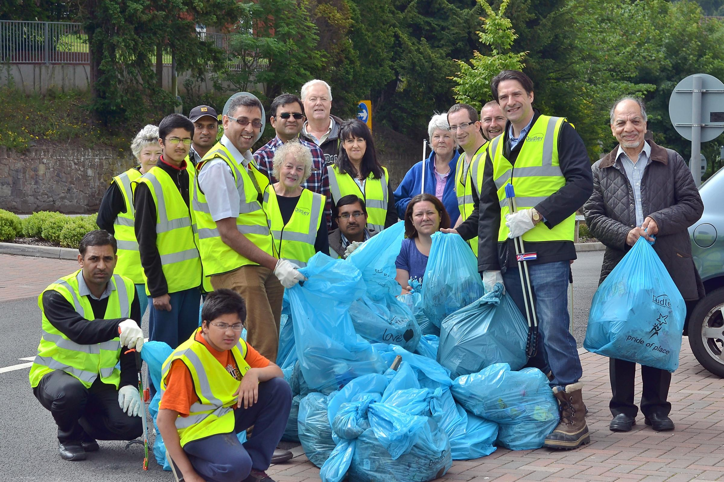 Hard days work: The volunteers who helped clean up Halesowen