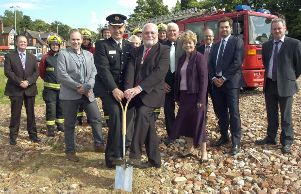 : Assistant Chief Fire Officer Phil Hales and authority chairman Cllr John Edwards at the site of the new Cradley Heath fire station.