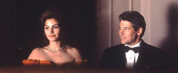 Julia Roberts and Richard Gere star in Pretty Woman.