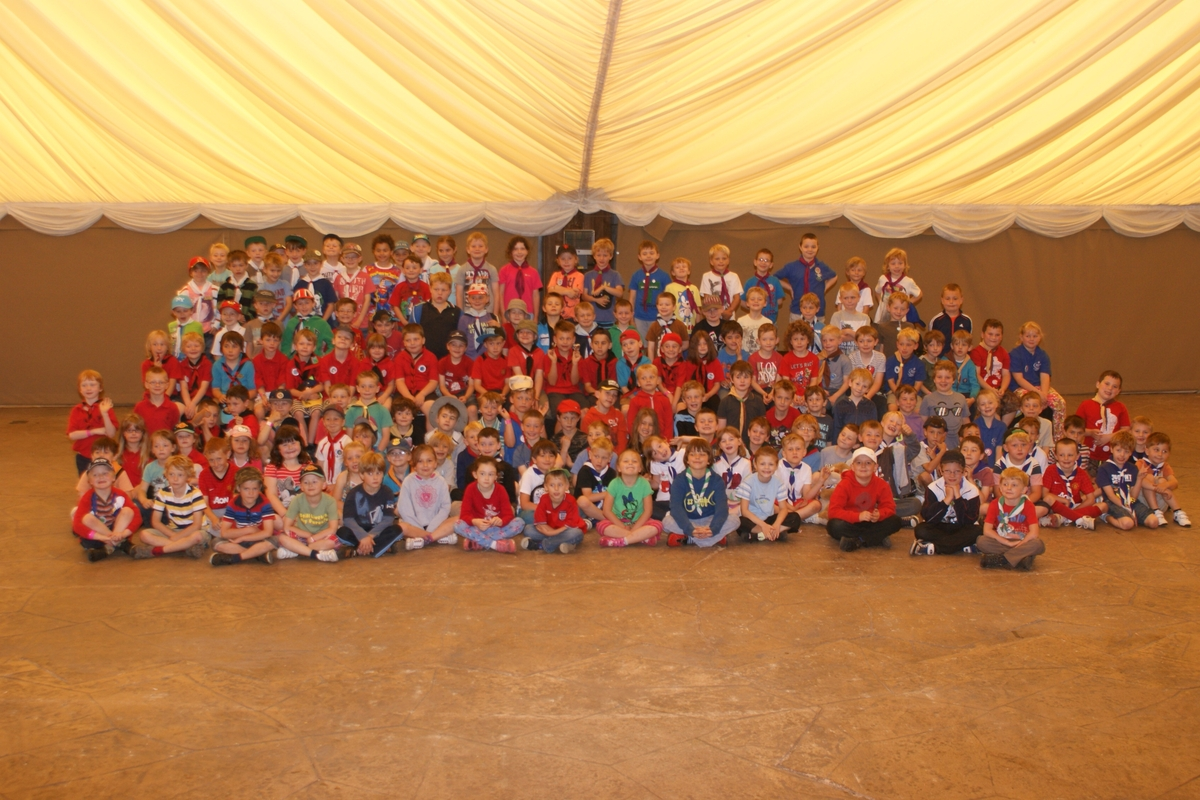 e Big adventure: Members of the Kidderminster District Beaver Scouts at the sleepover.