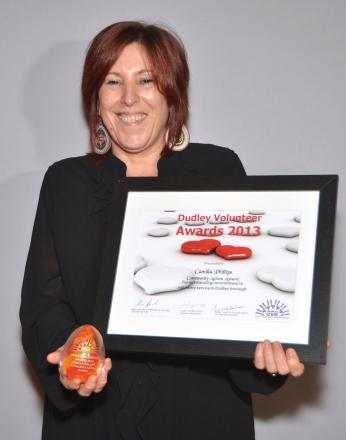Award winner: Camilla Phillips from the Hope Centre.