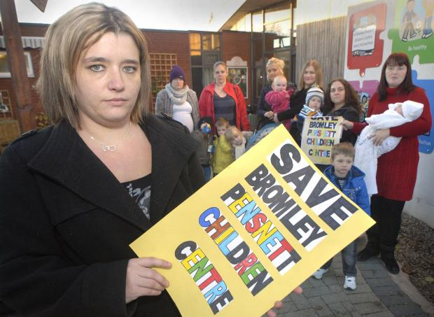 Sarah Shotton is among campaigners aiming to take the fight against changes to Dudley borough children's centres to the streets