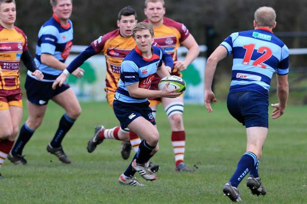 Halesowen News: Kieron Pinches looks for some help during DK's dreadful defeat at Sedgley Park - picture by Ian Jackson
