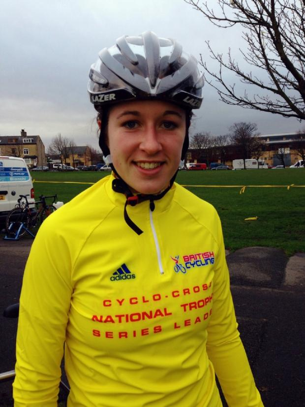 Halesowen News: Hannah Payton sports the National Trophy Series leader's yellow jersey
