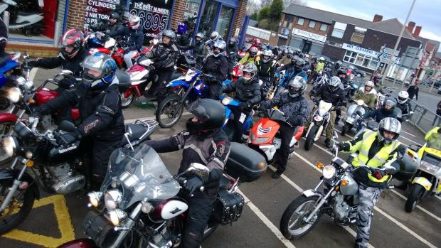 Bikers rev up in Halesowen for dream ride