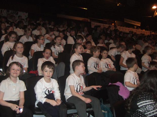 Halesowen News: In fine voice: Astley pupils performed at the LG Arena Young Voices concert.