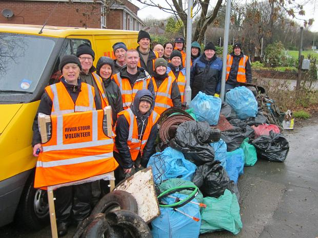 James Morris MP and volunteers from River Stour Clear Water Project
