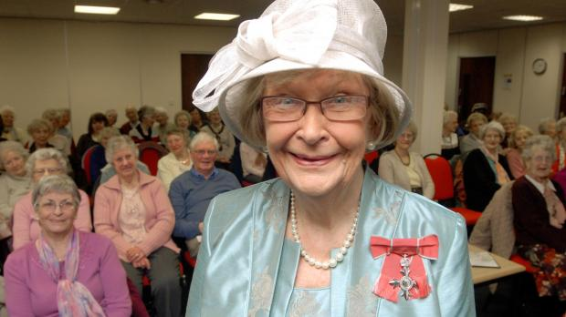 Dorothy Clarke MBE at the Halesowen Over 50s Club. (Buy photo 051404L)