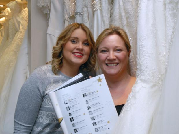 Halesowen News: The Dressing Rooms boss Rebecca Baddeley (right) with staff member Sarah Hellier. (Buy photo 051435M)