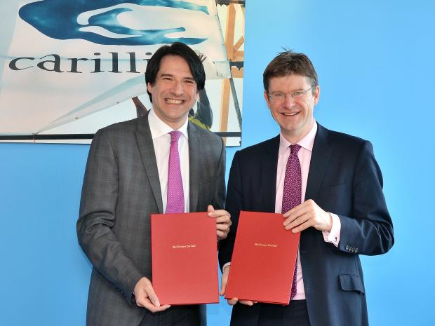 James Morris MP with Cities Minister Greg Clark at the signing of the Black Country Deal.