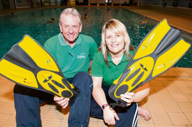 Halesowen News: Steve Lloyd and Gemma Staples get ready for the new exercise class