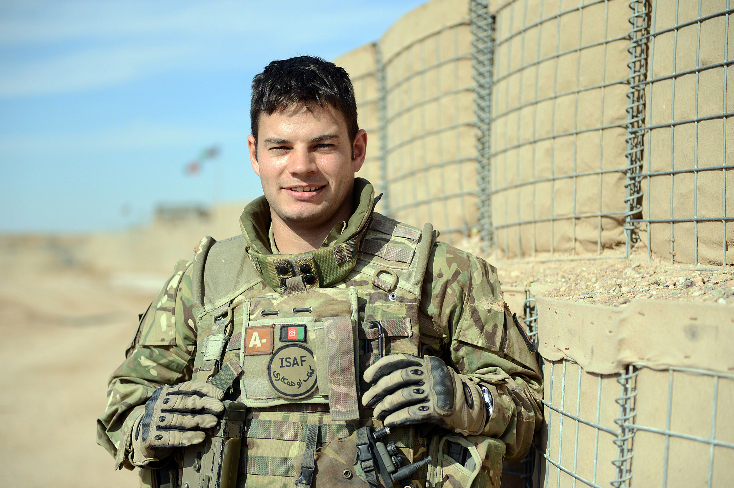 Corporal James Letts in Afghanistan