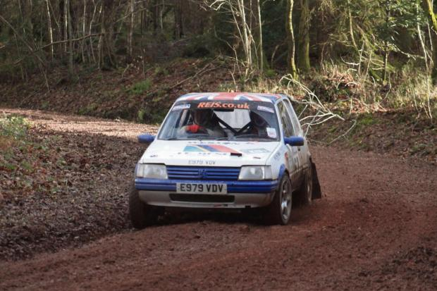 Halesowen News: Steve Deeley and Alan Proudman in action on the Wyedean Rally.