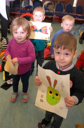 Hasbury play group tots (from left) Alexa Jamieson, Harry Daniels, Daniel Foster and Jacob Baker, all aged three.