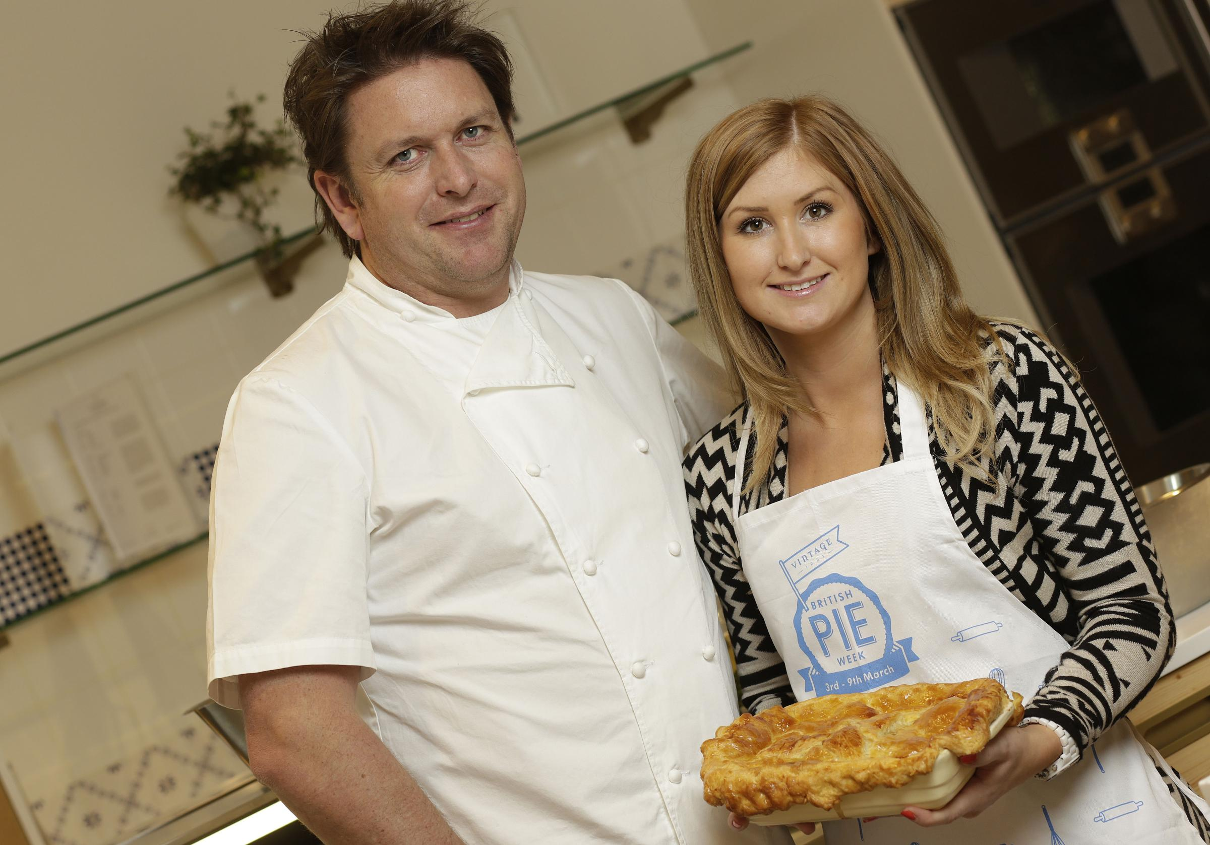 Celebrity chef James Martin and Hannah Willi