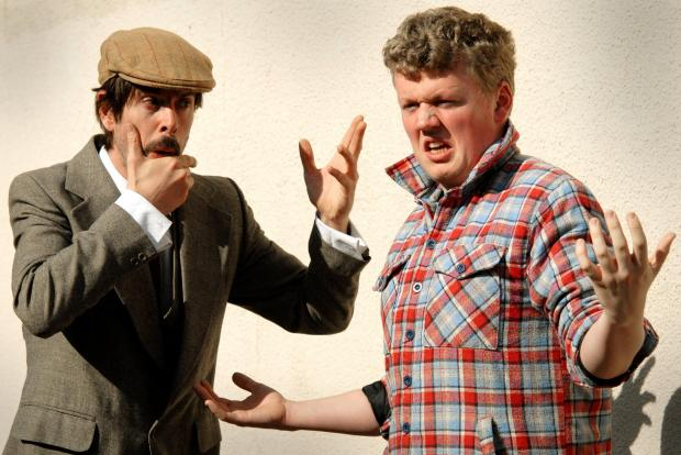 Dave Francis Williams and Jordan Smith prepare for An Evening With Fawlty Towers.