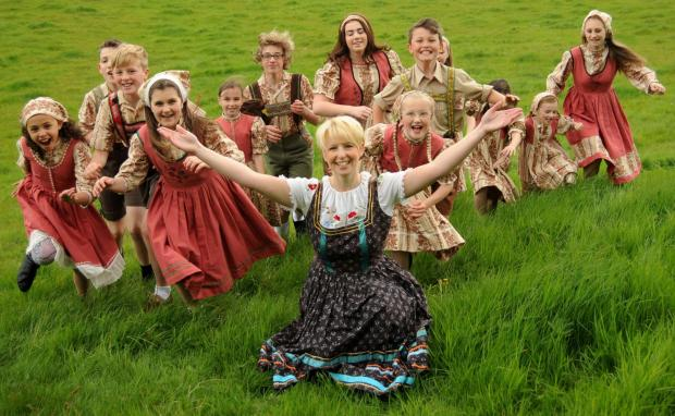 Halesowen News: The Von Trapp children with Maria (Alex Detheridge).
