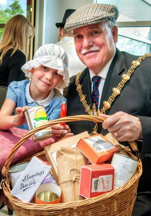 Holly Taylor with Mayor of Dudley - cllr Alan Finch. Buy photo: 211409MH