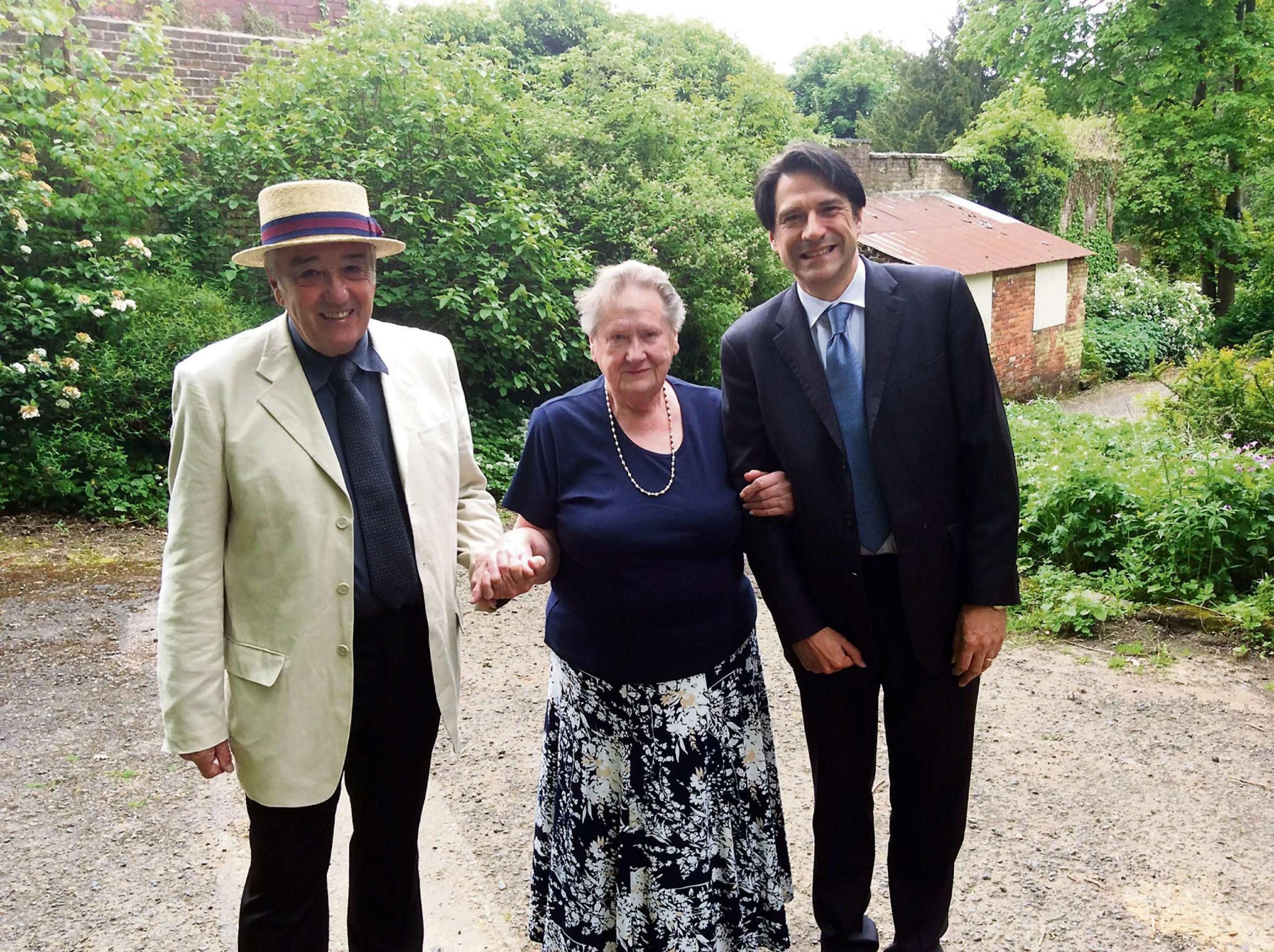 Save our garden: Mick Freer, Marianne Diller and James Morris MP.