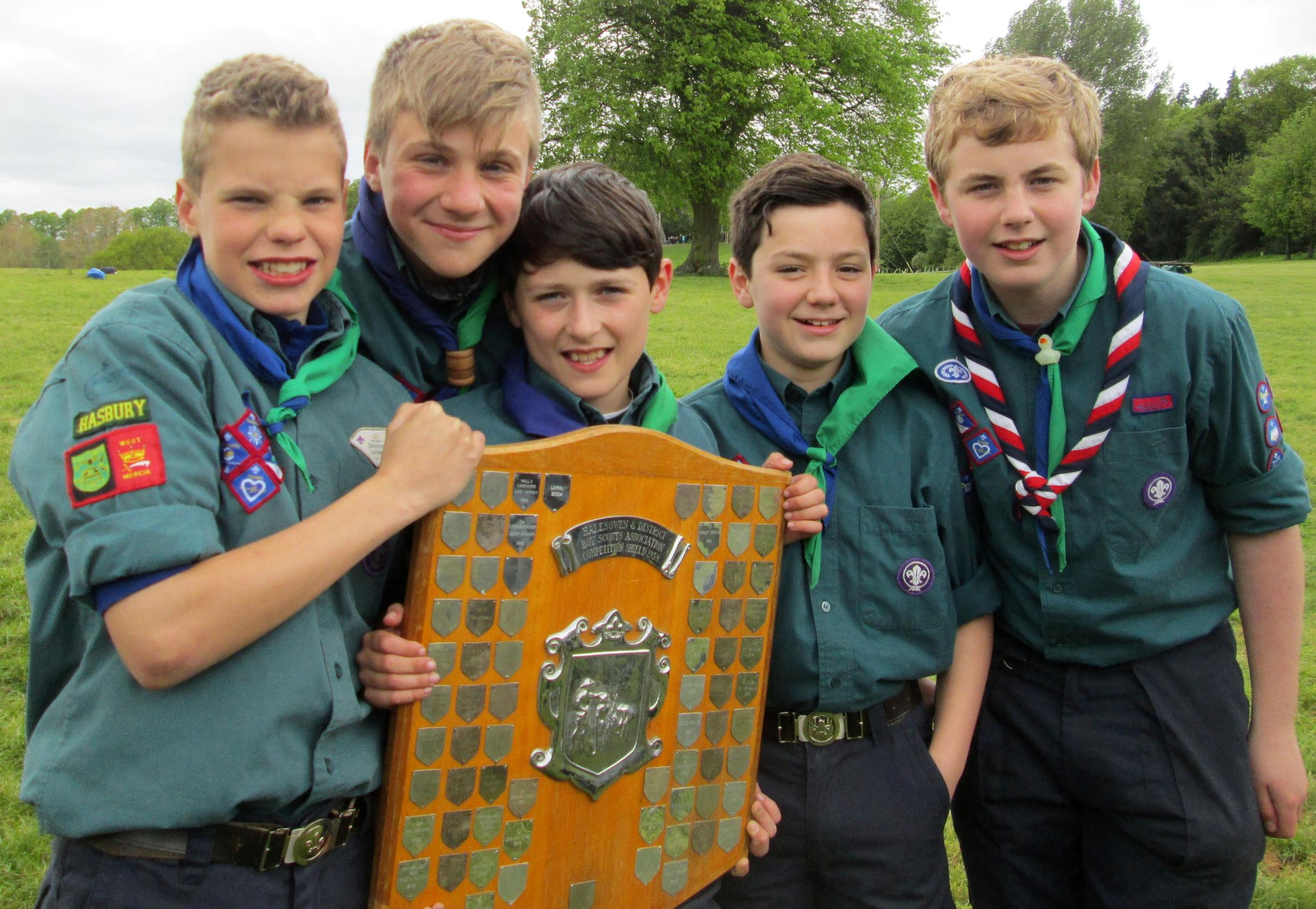 The winning team (from left): Lewis Richards (13), Jack Elliot (14), Harvey Williams (11), Adam Smith (12) and Jack Parton (14).