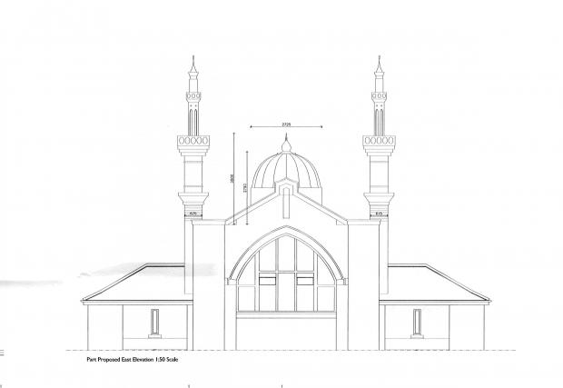 Controversial mosque extension plan.