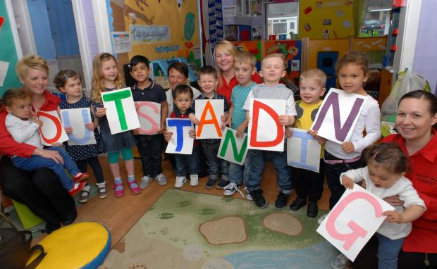 "Halesowen News: Merryvale Nursery toddlers and staff spell ""outstanding""."