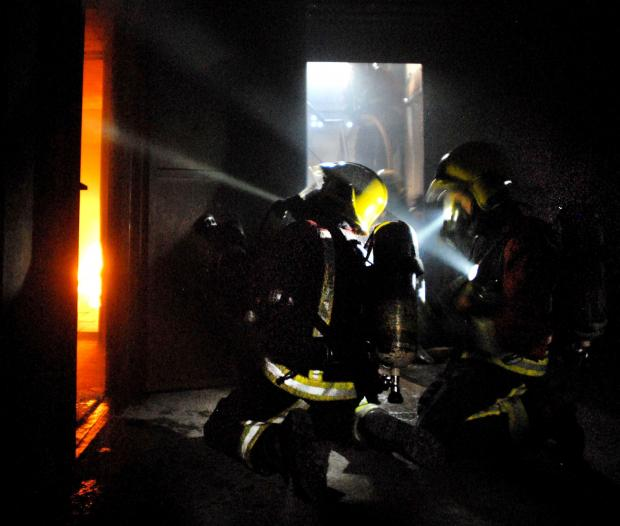 Halesowen News: Inside the towering inferno at Oldbury Fire Station.