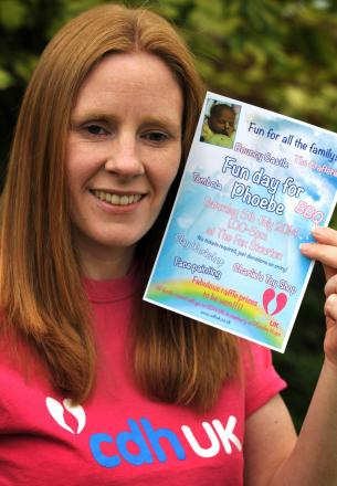 Kate Dulson has organised a fun day in memory of daughter Phoebe.