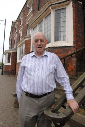 John Young outside the historic Halesowen Council House.